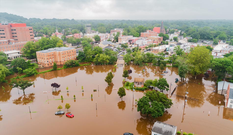 flood in a city, cycles that influence insurance rates